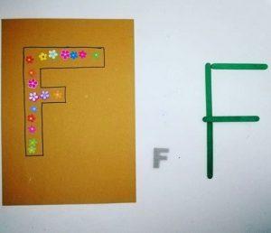 Actividades para aprender la letra F